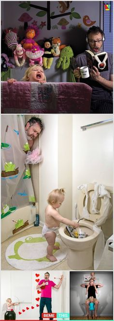 Raising kids is hard and parents have too much pressure if they are doing everything right. This dad made a comical series with dark humor. #Funny #Dad # Family #Parenting