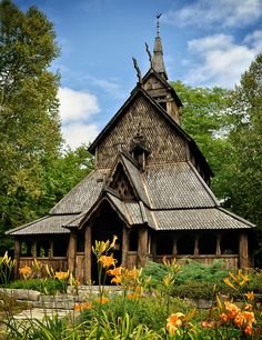 Stavkirke Church - Washington Island. It's been too long since I've been in those woods.