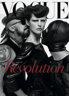 Some split run covers newVogue Italia I Lo cierto es que la palabra revolución aparece más en las revistas de moda que en las de política. Ya lo saben. El capitalismo lo digiere todo.