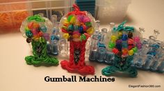 Rainbow Loom Gumball Machine charm - How to (+playlist)
