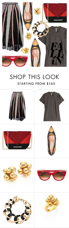 """Fall Fashion"" by stacey-lynne ❤ liked on Polyvore featuring Oscar de la Renta, Maison Margiela, Roland Mouret, Marni, Marina B, Thierry Lasry and Michael Kors"