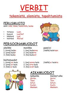 Learn Finnish, Finnish Language, Grammar, Teaching, Comics, School, Kids, Toddlers, Boys