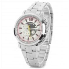 Zhong Yi z-803 Woman's Classic Analog Quartz Wristwatch - Silver + White (1 x 626)