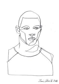 Gaze 418 continuous line drawing by boris schmitz for Art of minimal boris