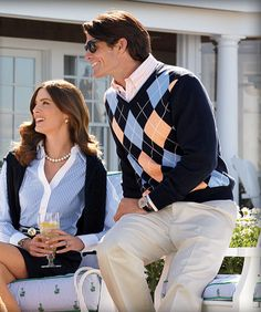 one preppy looking couple