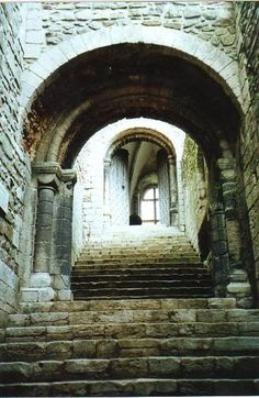 Stairs in Castle Rising , Norfolk - I've been here! LOVED this castle!
