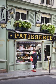 Tasting the treats through the window pane. Laduree Patisserie in Saint Germain des Pres, Paris France © Brian Jannsen Photography