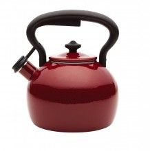 PAULA DEEN Signature 2 Qt Bulb Kettle Red Speckle $32.95  FREE SHIPPING