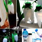 de botellas de plastico