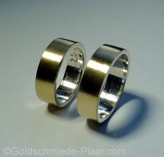 Trauringe Silber und Gold  Weddingrings silver and gold