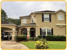 Exterior painting by CertaPro house painters in Fleming Island, FL