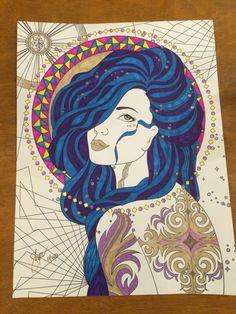 Title Sundari Keti Beautiful Obra Psychedelica Adult Coloring Book Medium My Metal Penbic Marking Pensharpie Ultra Fine Point Uniball Signo Angelic