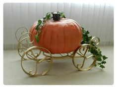 Pumpkin with carriage... think Cinderella
