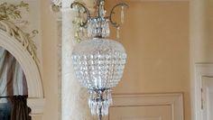 antiker Kronleuchter, Kristall Bronzebeere, silber, antique chandelier C05