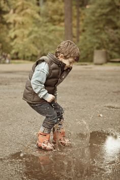 e55129122 Puddle Splashing in Bogs Footwear #babybogs #puddlejumpers #back2school  Palladium Boots, Ladies Dress