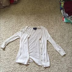Selling this American Eagle Cream Sweater in my Poshmark closet! My username is: jesseharbin. #shopmycloset #poshmark #fashion #shopping #style #forsale #American Eagle Outfitters #Sweaters