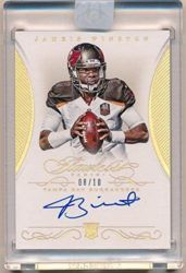 Jameis Winston 2015 Panini Flawless Rc Rookie Gold Autograph Sp Auto Mint #08/10 – Panini Certified – NFL Autographed Football Cards