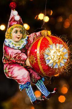 Victorian Vintage Circus Clown Christmas  by OvertheTopStudios, $39.00