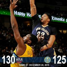 Anthony Davis leads the Pelicans to the road win over the Nuggets in Denver.