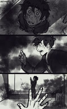 Big Hero 6 au - pg4 moeskine tumblr: My take in the reverse rol AU's. I've read hundreds of comments saying how tadashi didn't deserved to die bla bla bla so i made him survive the fire, but, a tooth for a tooth. (Plot clarification: the roof game up and fell over Hiro.)