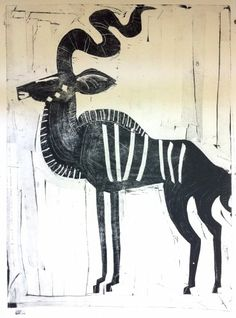 110‐5972 <b>greater kudu</b> Etosha, Namibia 77 x 56 cms £250‐Greg Poole African Design, African Art, Native Tattoos, African Patterns, Best Book Covers, Illustration Art, Illustrations, Cool Books, Abstract Animals