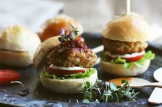 Chicken & Pinenut Sliders
