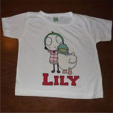 Sarah and Duck Personalized T Shirt with Free Birthday Button