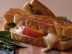 Peach, Basil, and Brie Panini- Sweet, ooey, gooey! This is the Perfect Panini if you want something light and refreshing!