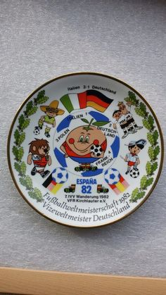 FIFA World Cup 1982 -Mascot NARANJITO & Other World Cup Mascot-Plate | eBay
