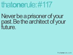 But also important to keep the knowledge of your past so you don't build the same flimsy bridge or building in the future.