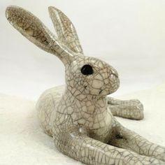 Medium Lying Hare Sculpture. Paul Jenkins