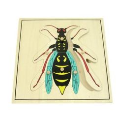 Wooden Wasp Puzzle NEW Montessori Zoology Material