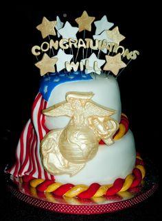 Marine Bootcamp Graduation Cake