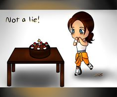 """Not a lie!"" by me, Tristan Journey/ Emily Tristan, Paint tool Sai. (7/6/15) Yay for #chibi #portal! Repin with permission please :3"