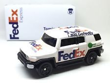 JAPAN TOMY TOMICA FEDEX EXPRESS DELIVERY CAR TOYOTA FJ CRUISER 1/66 DIECAST RARE