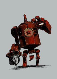Kuz'ka soviet giant nuclear robot by Bregolas.