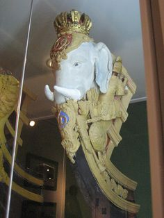 Figurehead | by miketransreal - Copenhagen Naval Museum. Elephants were a symbol of the royal family