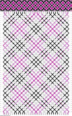 Colors: 4 Strings: 32 Rows: 48 #Plaid #FriendshipBracelet
