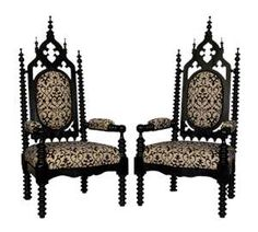 19th Century Gothic Throne Chairs | Dominium Designs, so going into my house