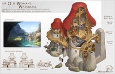 ArtStation - an old woman's watermill, Mina Lee