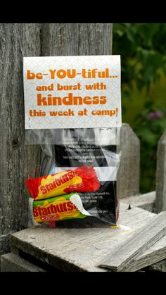 Such a cute idea for the first day of camp!