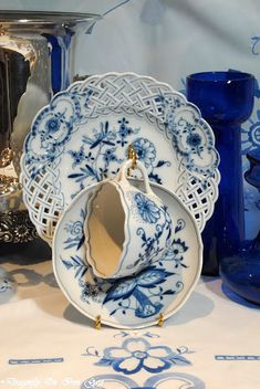 Blue Danube...this is the china pattern we chose when we were married in 1980. I…