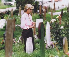 August Diana, Princess of Wales visibly emotionally touched while visiting Sarajevo, Bosnia.