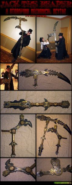 Steampunk Reaper Scythe by ~epicfoam on deviantART