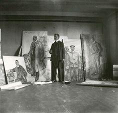 Edvard Munch, Self-Portrait, atelier of Skrubben, Kragerø, 1909-1910 [Selvportrett i atelieret på Skrubben i Kragerø] from and more: • Centre Pompidou (dossier pédagogique) • Munch-museet