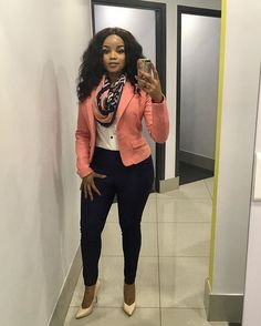 50 African Office outfits to try on - Ankara Lovers Corporate Outfits, Corporate Fashion, Corporate Attire, Business Casual Attire, Professional Attire, Classy Work Outfits, Office Outfits, Stylish Outfits, Office Attire