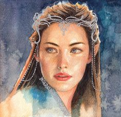 Hobbit Art, O Hobbit, Arwen Undomiel, Legolas, Aragorn, Gandalf, Lotr Elves, Sarada Uchiha, Watercolour Painting