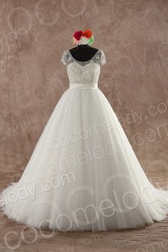 Latest+A-Line+Bateau+Natural+Sweep-Brush+Train+Organza+Champagne+Sleeveless+Zipper+With+Button+Wedding+Dress+with+Beading+and+Appliques+B14A0001 $369.00 wedding dress, wedding dress, wedding dress, wedding dress, wedding dress