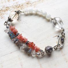 #crystals #moonstone #silver
