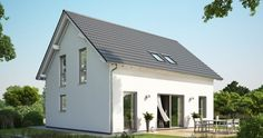 Massivhaus Kern-Haus Signum Gartenseite